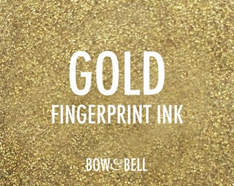 Fingerprint Ink - GOLD METALLIC - for Personalised Hen Party  / Wedding / Birthday / Guestbook Prints