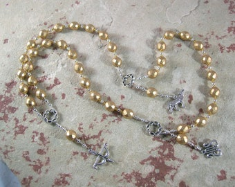 Apollo Prayer Beads: Greek God of Music and the Arts, Health and Healing, Archery and the Sun