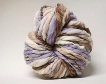Handspun Thick and Thin Yarn Wool Merino Slub TTs(tm) Hand dyed Extra Super Bulky Half-Pounder xxlr TP 1512b