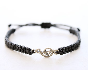 Treble Clef Bracelet - Hemp Bracelet - Hemp Jewelry