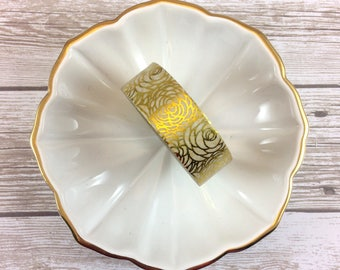 "Gold Foiled Rose Washi Tape // Full Roll or 24"" Sample"