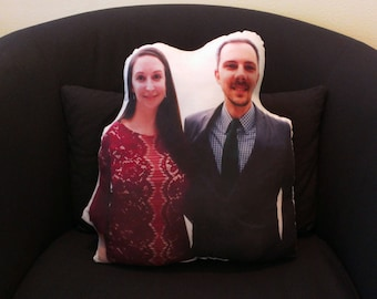 Custom Photo Pillow boyfriend gift for wife personalized best romantic gift custom engaged gift best couple gift newlywed gift mr mrs pillow