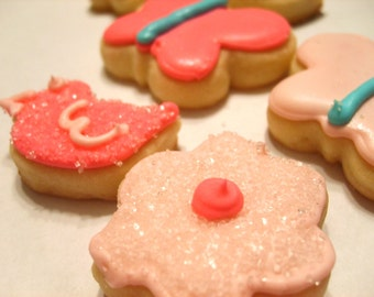 Mini flower, butterly, chick cookies