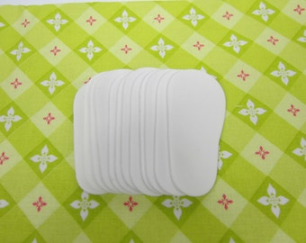 """2mm Doll Soles, 12-Pack Doll Soles, 12-White 2mm Foam Doll shoe Soles, 18"""" die cut doll soles, foam doll shoe supplies, free shipping"""
