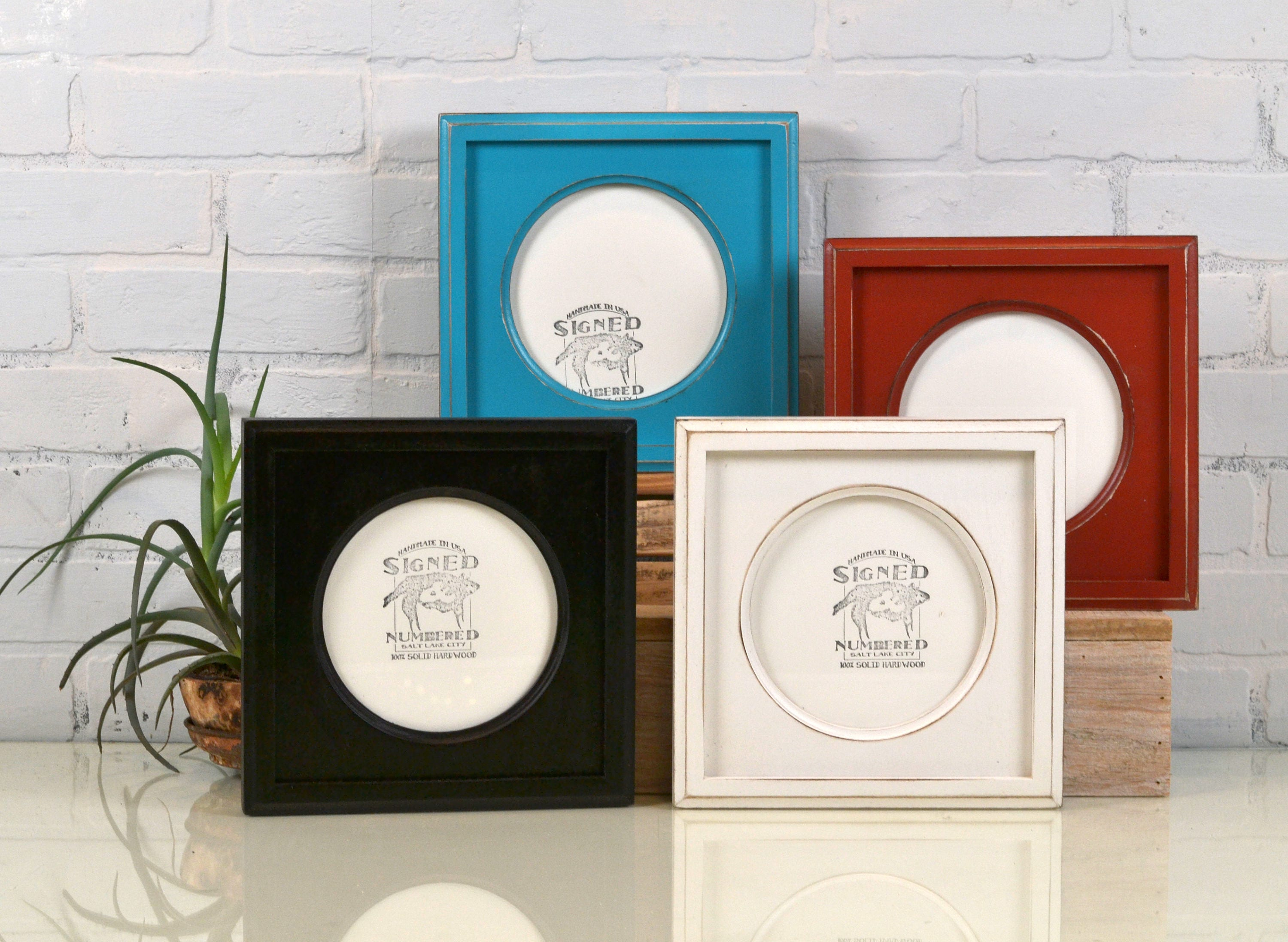 6x6 Picture Frame with Circle Opening for Square Photo - Can Be ANY ...