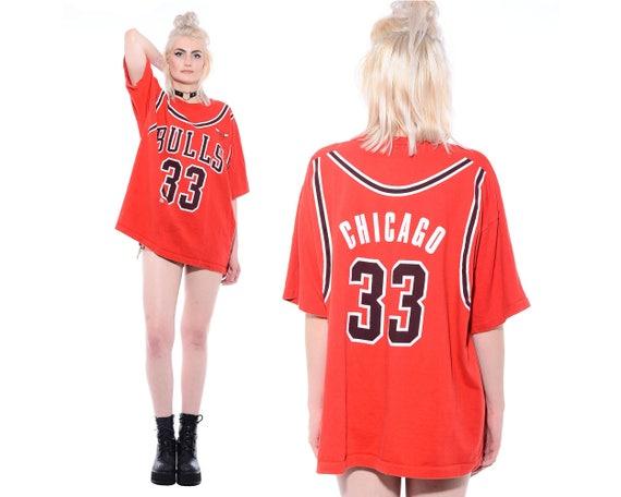 Vintage 90s CHICAGO BULLS Dennis Rodman #91 Jersey T-Shirt Hip-Hop Oversized Basketball XXL BeSYlttw