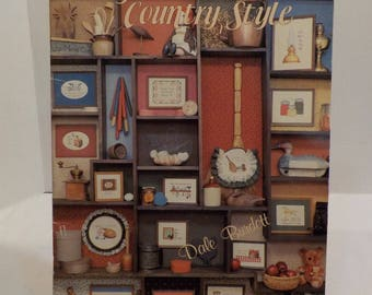 Say It Country Style-folk-Vintage Counted Cross Stitch Patterns 15 Patterns by Dale Burdett