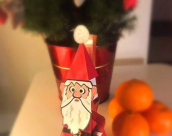 Father Christmas Gift |  Favor Box | Printables Favor Box, Money Gift Holder | Christmas Money Wallet |  Santa Claus