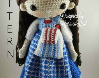 Belle-French Village- Amigurumi Doll Crochet Pattern PDF