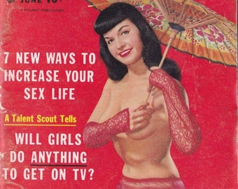Carnival magazine - Bettie Page cover! vintage cheese cake pinups