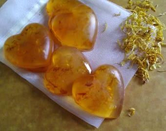 Be Mine soap, Calendula Soap,Botanical soap,Heart soap,Soap Gifts,honey soap,