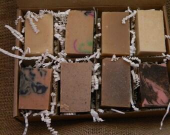 Goats Milk Soaps Sampler Family or Couples Gift Box 3