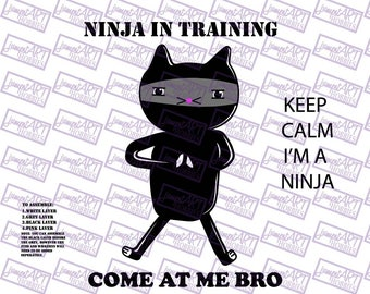 Cat Ninja SVG, cutting file for Silhouette and Cricut