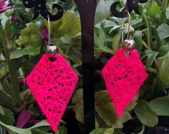 Biodegradable plastic dangle earrings
