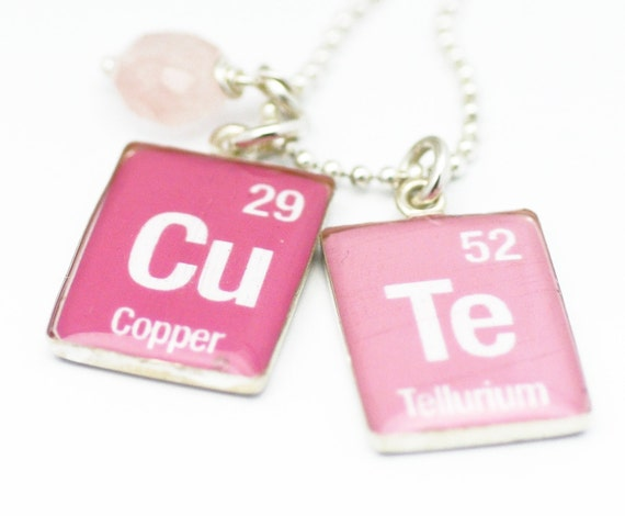 Periodic table necklace element charms science jewelry like this item urtaz Image collections