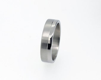 Men's wedding band made from white gold, man wedding ring, white gold ring, wide ring, commitment band, unique, modern, contemporary, ring