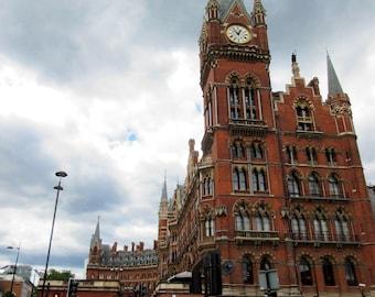 8x10, St Pancras Train Station, Harry Potter Station, Hogwarts Express, Kings Cross, London, London Photography, London Art, British, UK