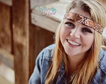 Tribal Headband - Boho Headband - Halo Headband - Bohemian Headband - Hippie Headband - Womens Headband - Forehead Headband - Adult