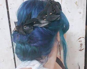 Leather Laurel Crown