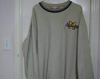 Retro Michigan wolverines Champion sweater sz XXL