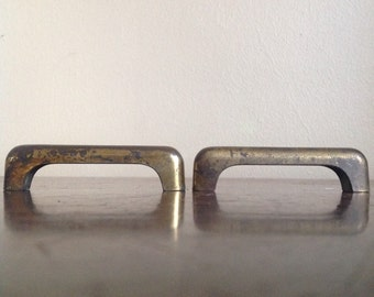 Pair of Vintage Brass Furniture Drawer Pulls.