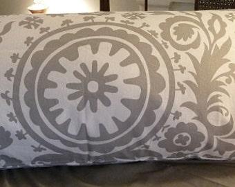 Suzani pattern body pillow cover
