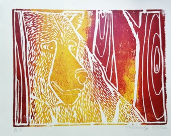 Papa Bear Artist Print