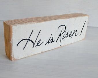 Easter Decor He is Risen, He Has Risen Easter Decor, Resurrection Decor, Christian Home Decor