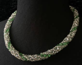 Glass - green Crystal beads necklace