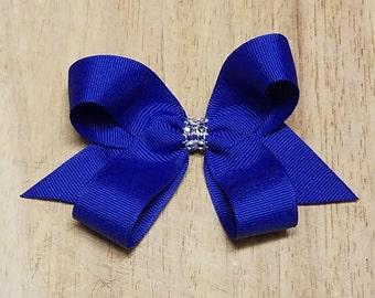 Small Royal Blue Hair Bows