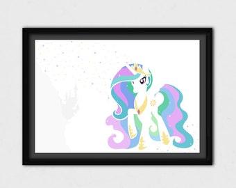My Little Pony - Minimal Princess Celestia - MLP Poster