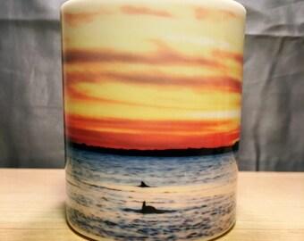 Dolphin Landscape Ceramic Coffee Mug