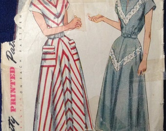 Vintage misses dress sewing pattern Simplicity 2807 Sz18 Bust36 1950s 1960s mid century