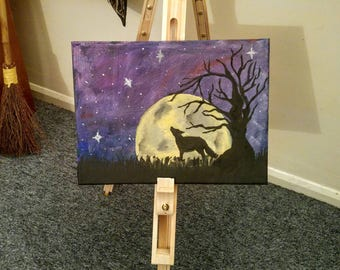 Full moon night painting