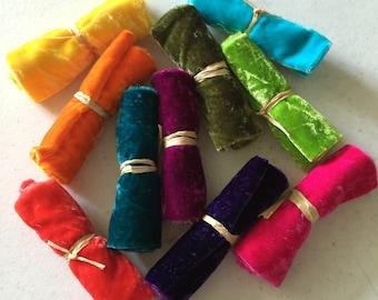 Silk Velvet, Hand Dyed Silk Velvet, Velvet Fabric