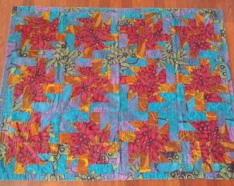 RESERVED -- Vintage patchwork lap quilt