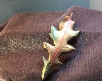Oak Leaf Pins, Real leaf imprints in polymer clay. Your Choice!