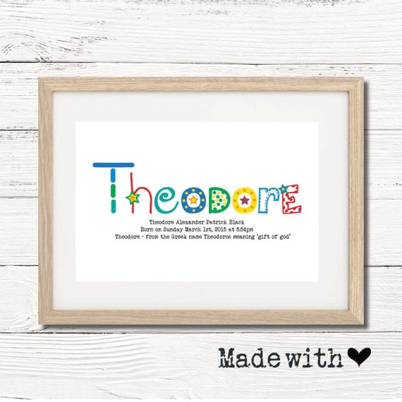 Personalised framed baby name meaning gift keepsake wall personalised framed baby name meaning gift keepsake wall art negle Choice Image