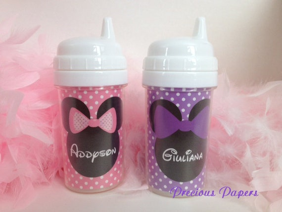 Personalized kids sippy cups Minnie Mouse sippy cup Minnie