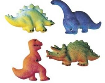 Edible Sugar Dinosaurs Assortment - 12 Count