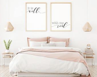 Rustic bedroom decor   Etsy