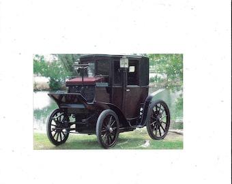 1980s Postcard, 1905 Columbia Electric Brougham Car, Imperial Palace Auto Collection, Las Vegas, Nevada, Unposted, Travel Souvenir Ephemera