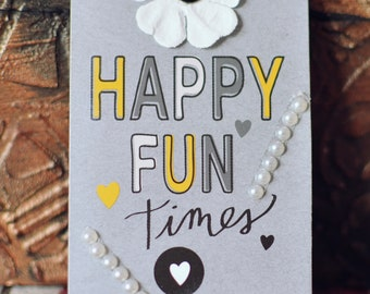 Tag shaped grey fridge magnet with message
