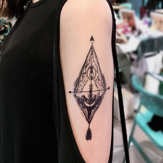 LazyDuo Hipster Tattoo Tarot Tattoo Large Spiritual Tattoos