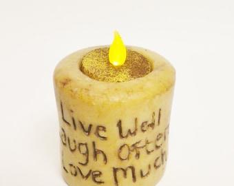 Primitive Candle, Sentiment Candles, Country Farmhouse Decor