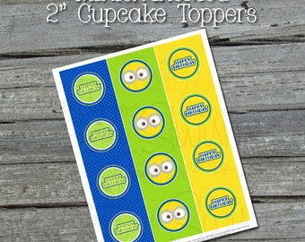 Minion Printable Cupcake Toppers - INSTANT DOWNLOAD