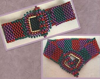 Peyote Woven Bracelet Great Colors !
