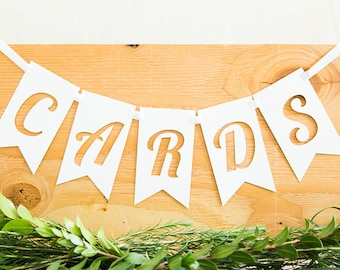 Cards Banner, Wedding Signs, Wedding Banner, Gift Table Sign, Rustic Wedding, Wedding Decoration
