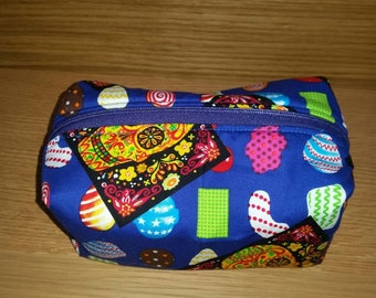 Day of the Dead Box Style Cosmetic Bag/Makeup Bag/Toiletry Bag