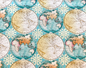 World map fabric etsy quick view world fabric gumiabroncs Gallery